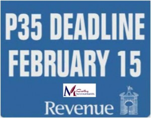 P35 Tax Deadline February 15th 23rd